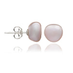 Margarita pink irregular cultured freshwater pearl stud earrings
