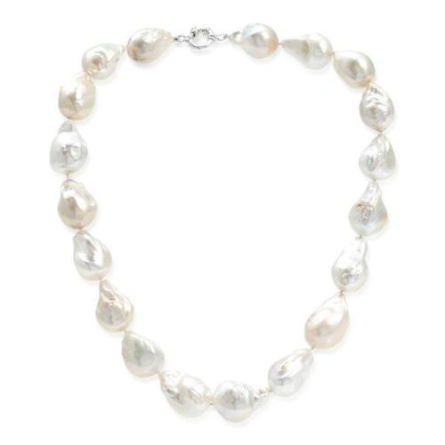 Large cultured freshwater 'fireball' pearl necklace