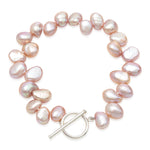 Margarita pink side-drilled irregular cultured freshwater pearl bracelet