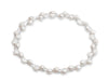 Cultured irregular freshwater pearl long chain silver necklace