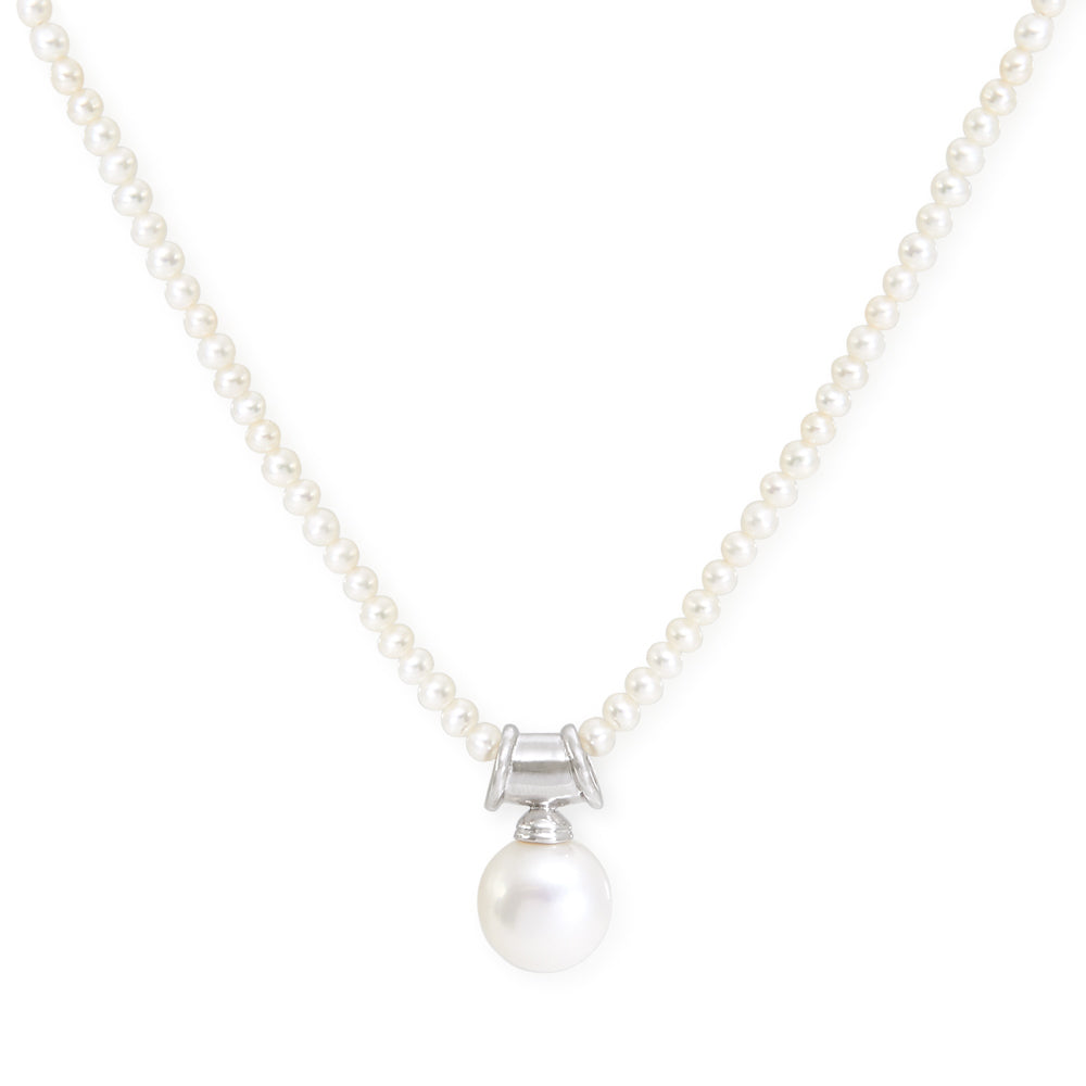 Credo large cultured freshwater pearl pendant on silver bale