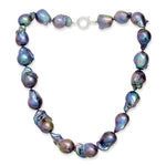 Decus large black cultured freshwater 'fireball' pearl necklace