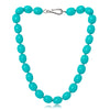 Large chunky turquoise Mother Of Pearl Necklace