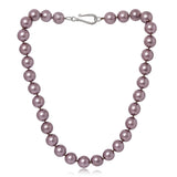 Clara large chunky mauve Mother Of Pearl Necklace