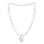 Vita cultured Freshwater Pearl Necklace With Silver Bumble Bee