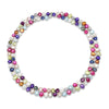 Multi-coloured cultured freshwater pearl loop necklace