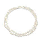 White cultured freshwater pearl loop necklace