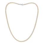 Credo gold mesh collar necklace