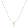 Large cultured freshwater pearl pendant on gold plated silver bale