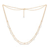 Fine double chain necklace with cultured freshwater pearls