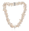6 strand white cultured freshwater pearl necklace