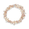 6 strand pink & white cultured freshwater pearl necklace