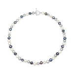Margarita black, grey & white irregular-shaped cultured freshwater pearl necklace