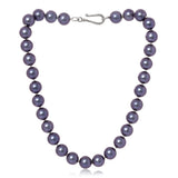 Clara large chunky purple Mother Of Pearl Necklace
