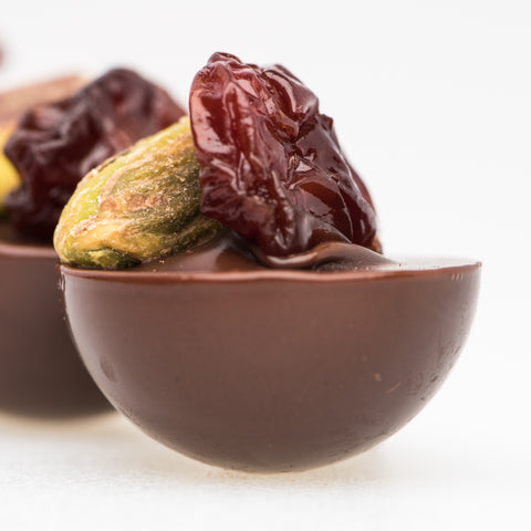 Kaneh - Cherry Pistachio Dark Chocolate