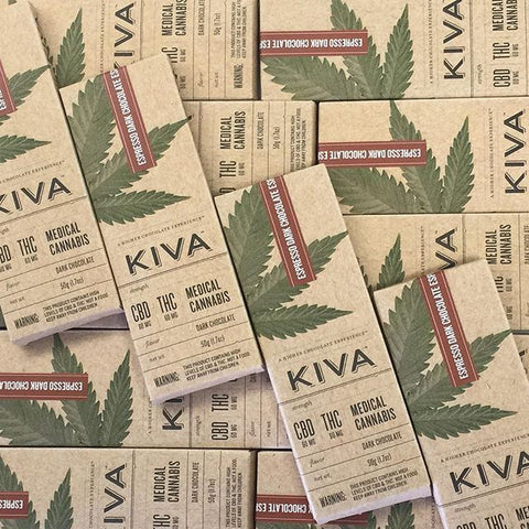 Kiva Espresso Dark Chocolate Bar 60 mg CBD