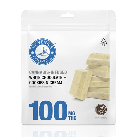 Venice Cookie Company - White Chocolate + Cookies N Cream Minis - 100mg THC