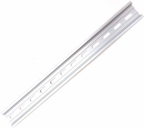 "T&G 1 Piece DIN Rail Slotted Aluminum RoHS 12"" Inches Long 35mm Wide 7.5mm High"