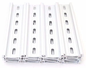 "T&G 20 Pieces DIN Rail Slotted Aluminum RoHS 6"" Inches Long 35mm Wide 7.5mm High"
