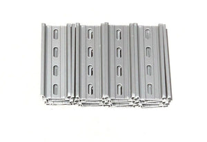 "T&G 20 Pieces DIN Rail Slotted Aluminum RoHS 4"" Inches Long 35mm Wide 7.5mm High"