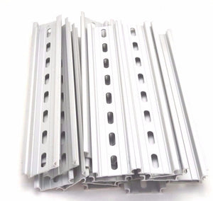 "T&G 20 Pieces DIN Rail Slotted Aluminum RoHS 8"" Inches Long 35mm Wide 7.5mm High"
