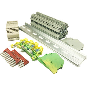 DIN Rail Terminal Block Kit #1 Grey DK2.5N Blocks