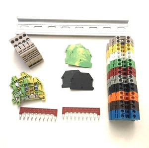 DIN Rail Terminal Block Kit #1 Every Color DK2.5N Blocks
