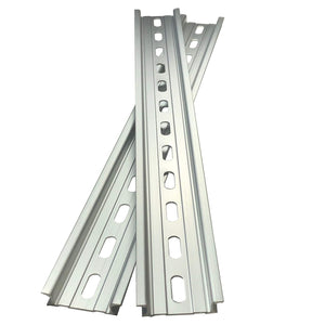 "T&G 2 Pieces DIN Rail Slotted Aluminum RoHS 12"" Inches Long 35mm Wide 7.5mm High"