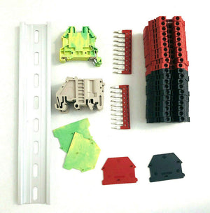 DIN Rail Terminal Block Kit #2 Red/Black DK4N Blocks