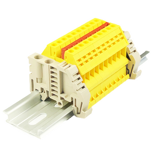DIN Rail Terminal Blocks Combiner Jumper End Bracket DK2.5N-YW International Connector