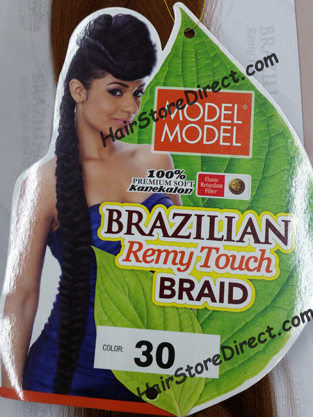 Xpression or Expression Braids by Model Model Brazilian Remy Touch Braid X-long Braid 100% Kanekalon 86""