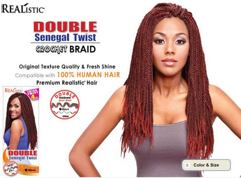 "REAListic™ Double Senegal Twist Crochet Braids 20"" 4oz"