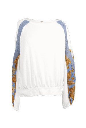 New Free People white sweatshirt