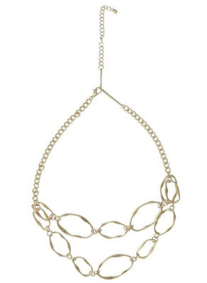 A layered chain-link necklace from lou lou boutiques' new jewelry trends.