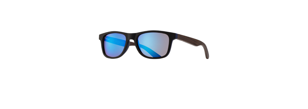 Black, Bamboo Blue Planet Sunglasses