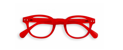 Pastel, red IZIPIZI glasses.