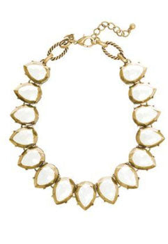 Bold, white acrylic statement necklace