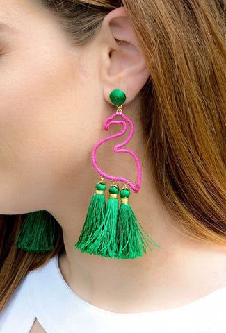 Unique, flamingo accessory earrings.