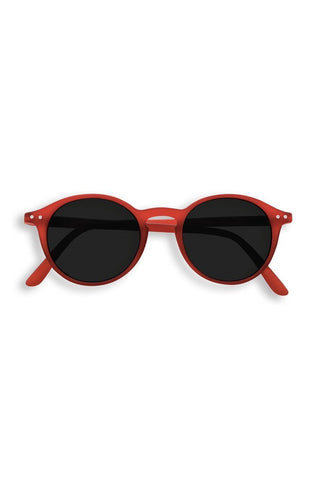 Red IZIPIZI eyewear sunglasses.
