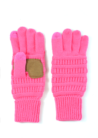 pink winter gloves lou lou