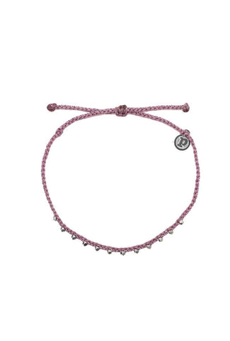 Stylish, pink string anklet accessory