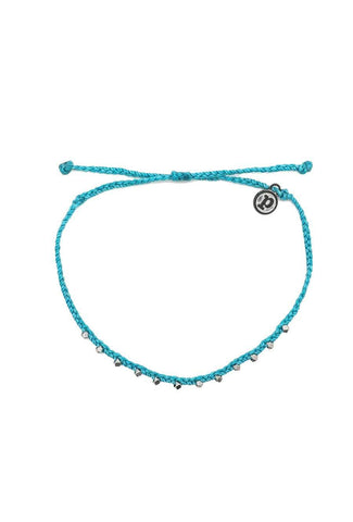 Stylish, blue string anklet accessory