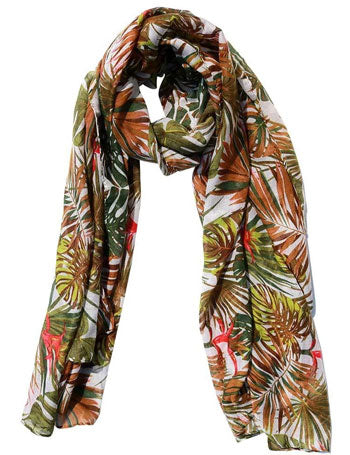 Summer, tropical foliage scarf