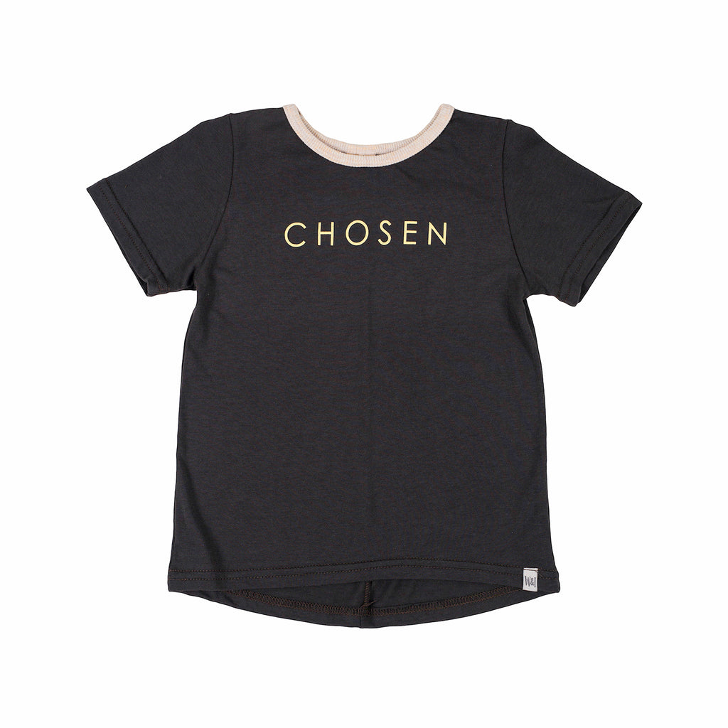 "Short Sleeve ""Chosen"" Drop Back Tee - Dusk"