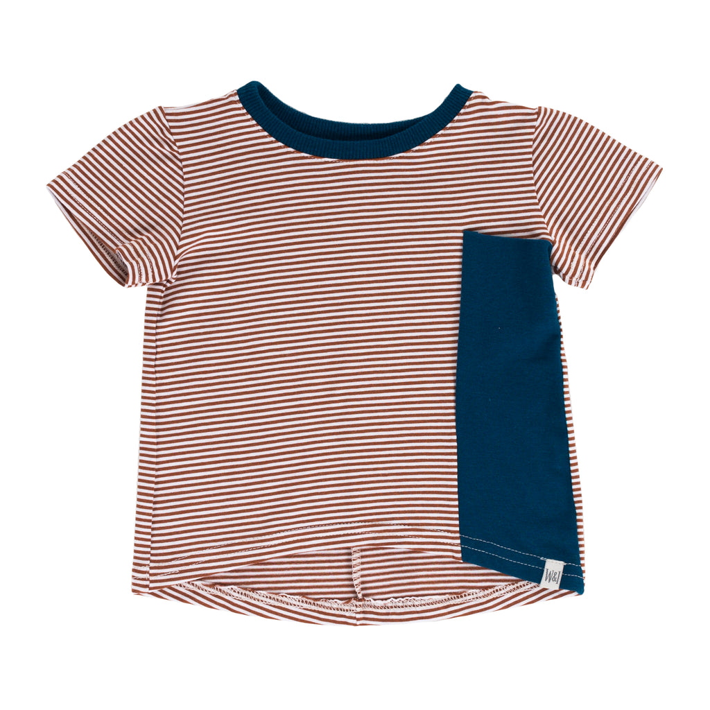 Drop Back Tee - Clay Stripe