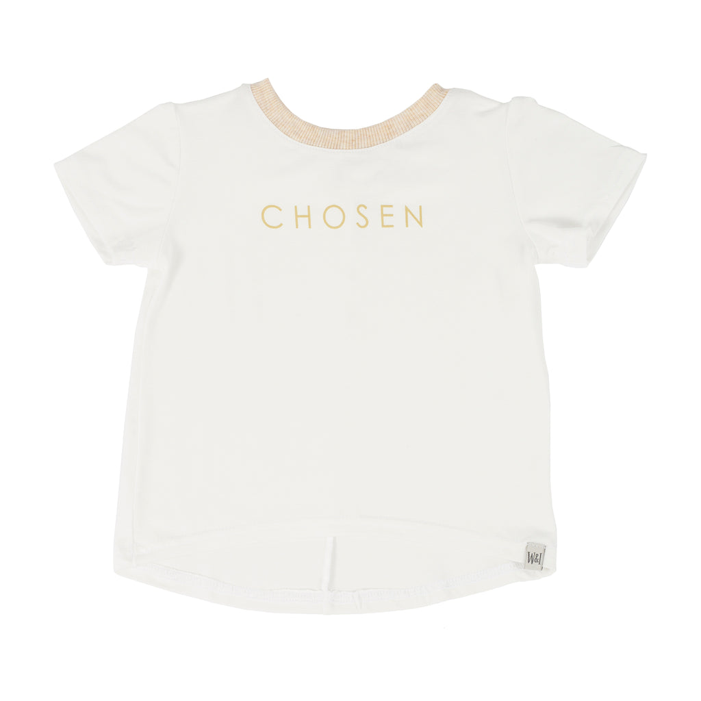 "Short Sleeve ""Chosen"" Drop Back  T-Shirt"