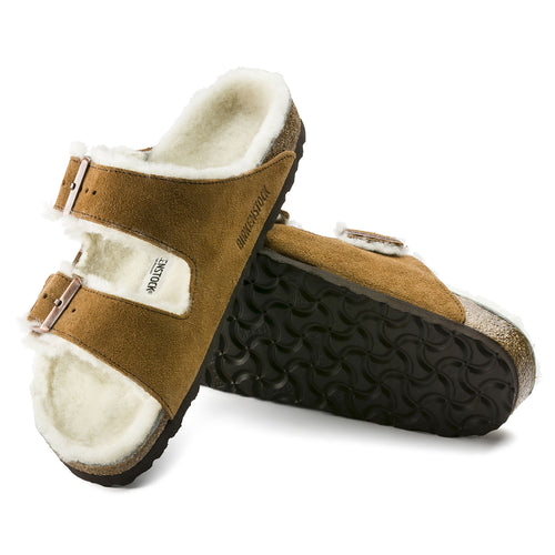 Birkenstock Arizona Shearling Suede Leather - Mink
