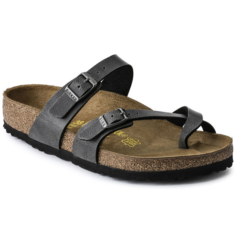 The Birkenstock Mayari Birko-Flor - Pull Up Anthracite Women's Clothing - Shoes from Birkenstock at Shop Southern Roots TX