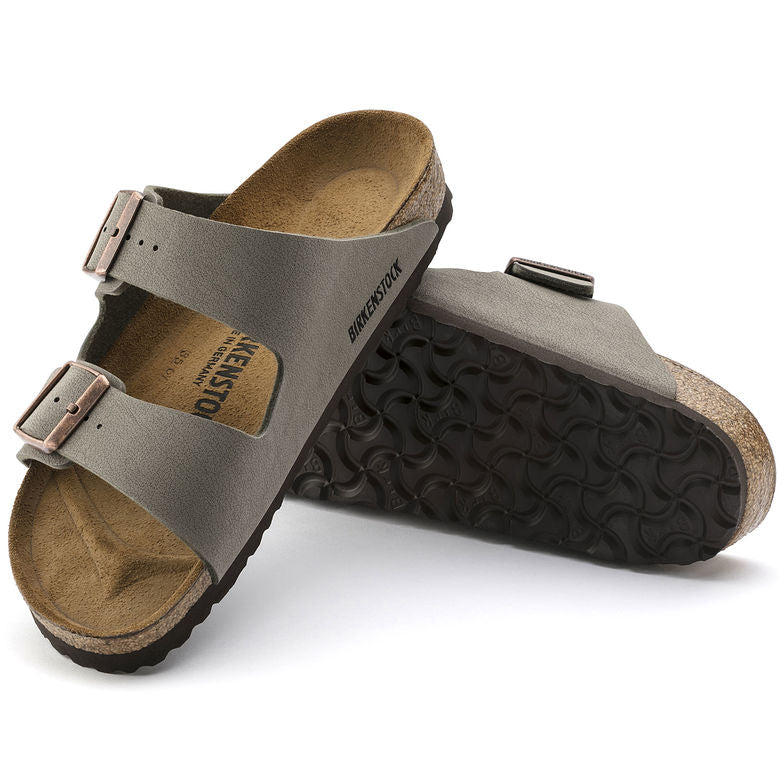 The Birkenstock Arizona Birkibuc - Stone Women's Clothing - Shoes from Birkenstock at Shop Southern Roots TX