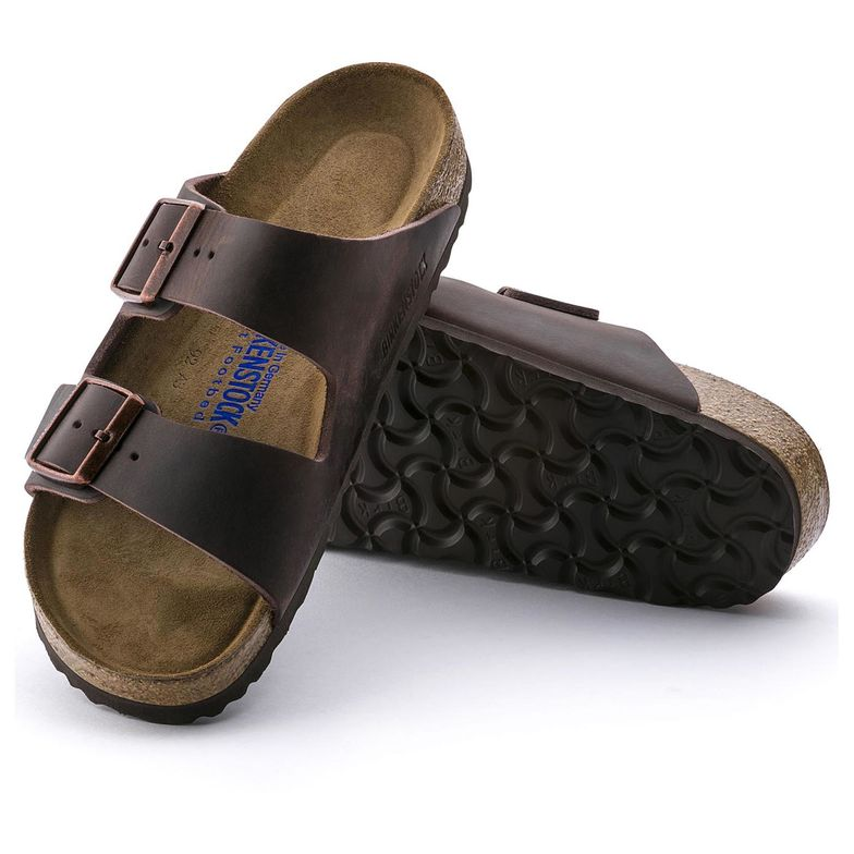 The Birkenstock Arizona Soft Foot Bed - Habana Oiled Leather Women's Clothing - Shoes from Birkenstock at Shop Southern Roots TX